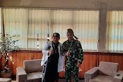 Kadisjarahad Brigjend TNI DR Rachmat Setia Wibawa S.I.P, M.M, M.Tr (Han) Terima Kunjungan Silahturahmi Sesepuh Kawargian Abah Alam (KAA)
