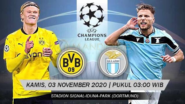 Prediksi Borussia Dortmund Vs Lazio, Kamis 03 November 2020 Pukul 03.00 WIB
