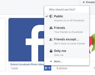 How to delete a Facebook photo album