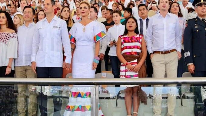 Yalitza Aparicio estuvo presente en la Guelaguetza en su natal Oaxaca rodeada de seguridad
