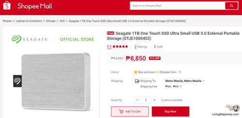 Seagate 1TB One Touch SSD