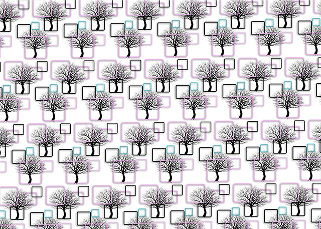 3D Wallpaper Abstract Background with Pink Black Squares