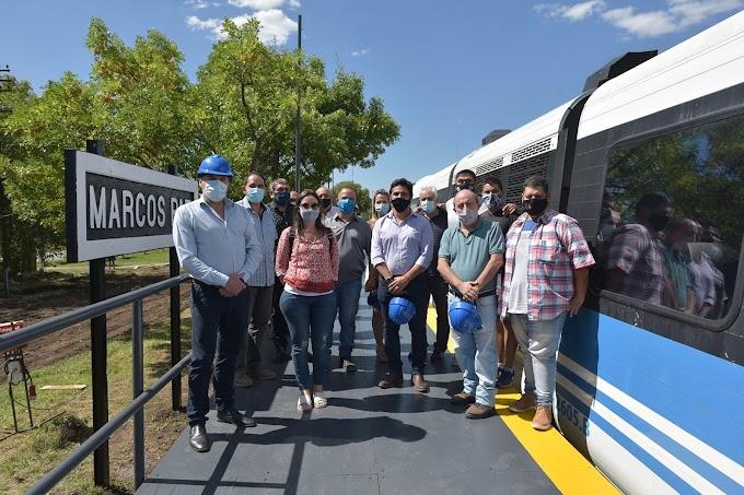 La Línea Belgrano Sur realizó una prueba en Marcos Paz