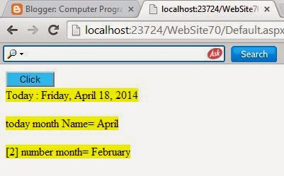 How to find month name in asp.net c#