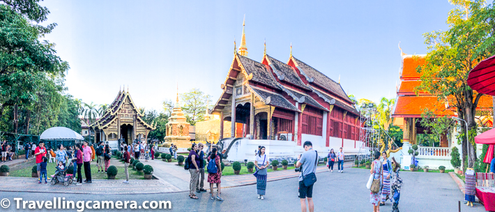 Wihal Lai Kham has a special importance inside Wat Phra Singh. Above photograph shows a panoramic views of Wat Phra Singh in Chiang Mai, Thailand. And that's not all, there are other temple structures apart from what you see in above photograph.