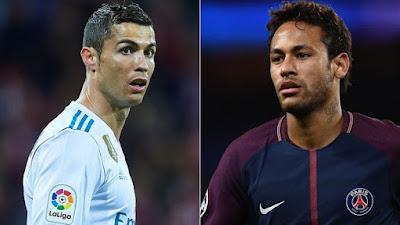 UCL ronaldo against Neymar