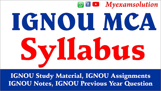 ignou mca syllabus, ignou mca study material