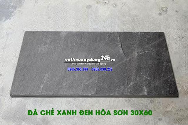 Đá chẻ xanh đen Hòa Sơn 30x60