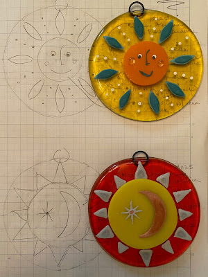 How to Paint Enamel Fused Glass Sun Sharon Warren Glass sharonwarrenglass flutterbybutterfly Enamel