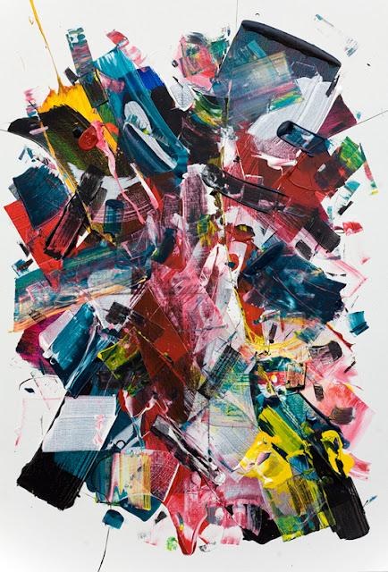 peinture sur toile abstraction lyrique jean baptiste besançon