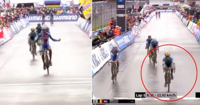 Celebró que ganaba la carrera, pero le faltaba una vuelta para llegar a la meta: y miren esto pasó