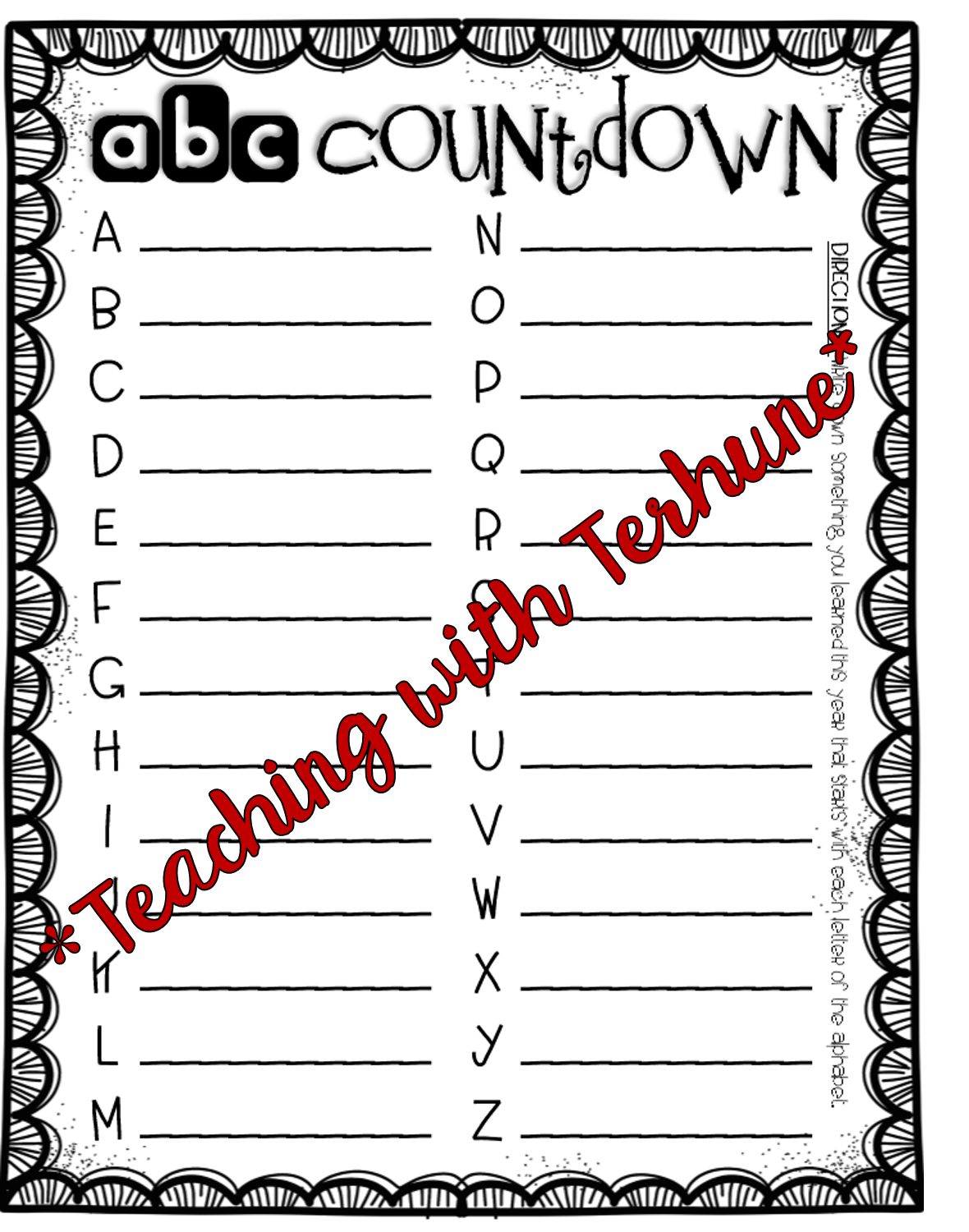 Teaching With Terhune End Of The School Year Activities