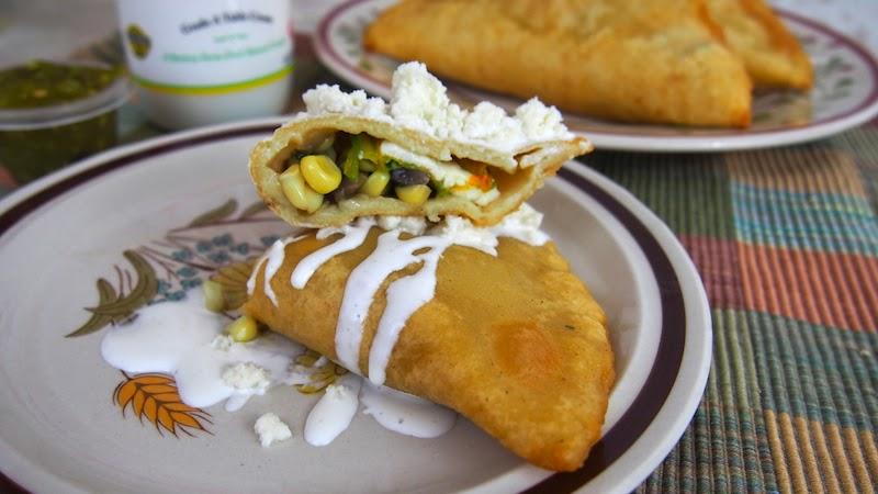 Quesadillas Fritas De Flor De Calabaza Champinones Y Elote Mi - Recetas-de-calabaza-frita