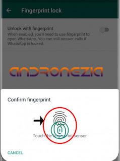 cara mengaktifkan Fitur Fingerprint di whatsapp