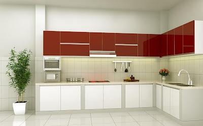 tủ bếp Acrylic màu trắng đẹp