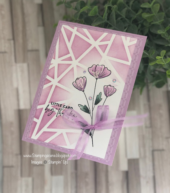 using masks to stencil around an image for card making