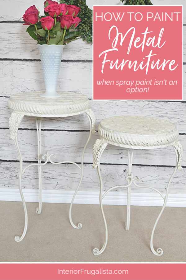 How To Paint Metal Furniture Without Spray Paint