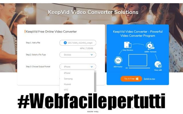 KeepVid Free Online Video Converter   Tool che permette di convertire file audio-video direttamente online