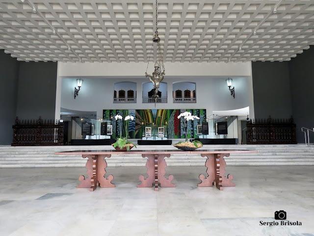 Vista do Hall de entrada do Palácio dos Bandeirantes - Morumbi - São Paulo