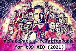 FACE & TATTOO PACK PES 2017 UPDATE 2021 (7000+ FACES)