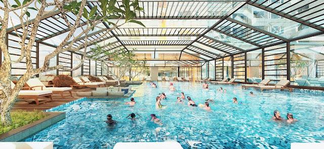 Bể bơi tại ICID Complex