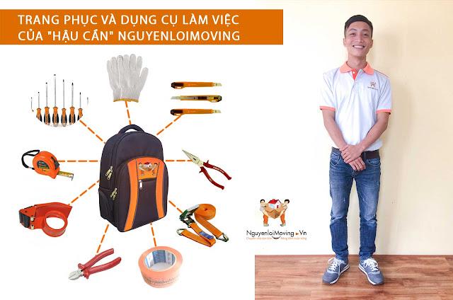 Đồng phục chuẩn nhân viên chuyển nhà NguyenloiMoving