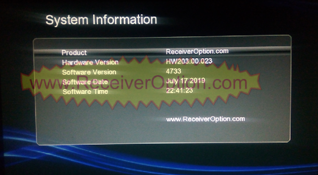 GX6605S HW203.00.023 TEN SPORTS & SERVER OPTION OK NEW SOFTWARE