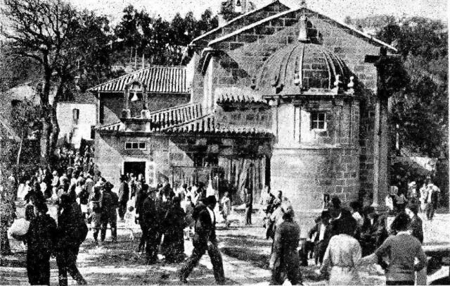 Santuario de Pastoriza (fotografía publicada en 1930)