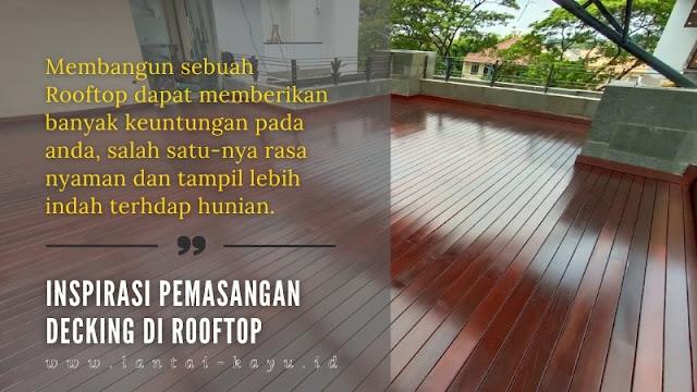 inspirasi pemasangan decking di rooftop