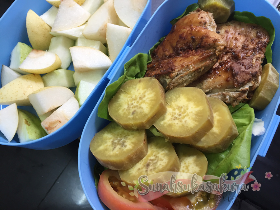 Chicken Grill dengan Sweet Potato