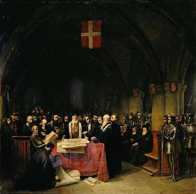 Capítulo Geral da Ordem dos Hospitalários em Rhodes. Museu de Versailles.