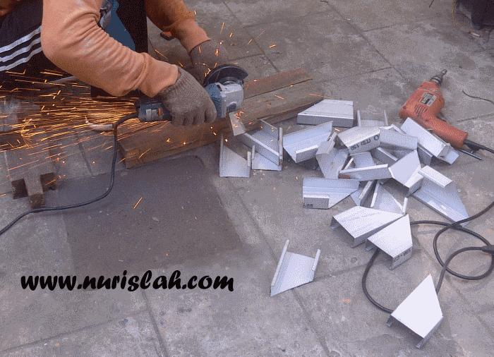 pondasi kanopi baja ringan membuat sendiri nur islah