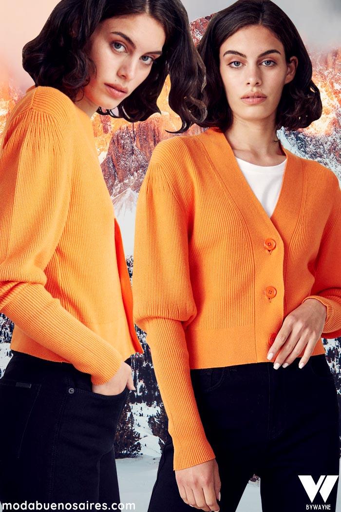 saquito corto tejido de moda invierno 2021