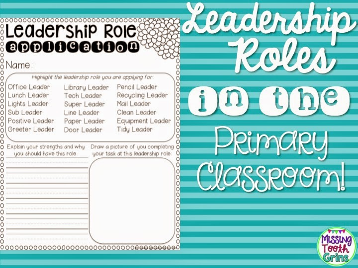 The Primary Pack Leadership Roles In The Primary Classroom - line leader