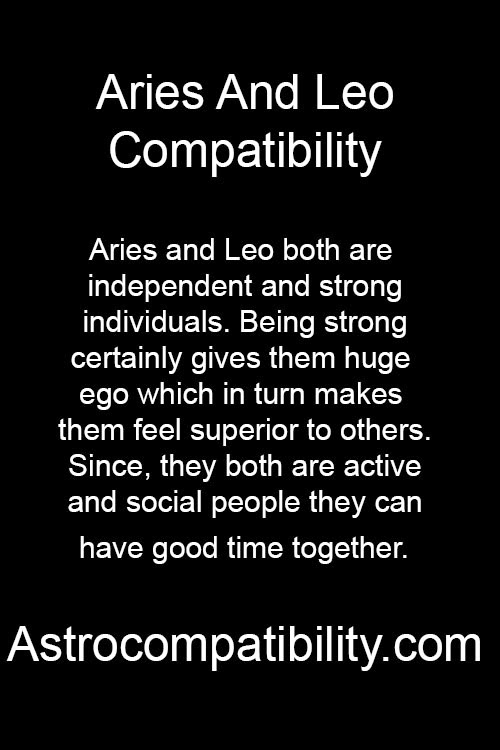 leo and aries relationship 2015 ford