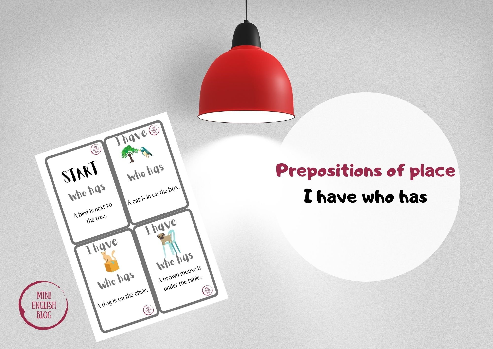 Prepositions of place - gra I have who has