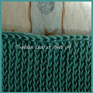 Tunisian crochet bind off