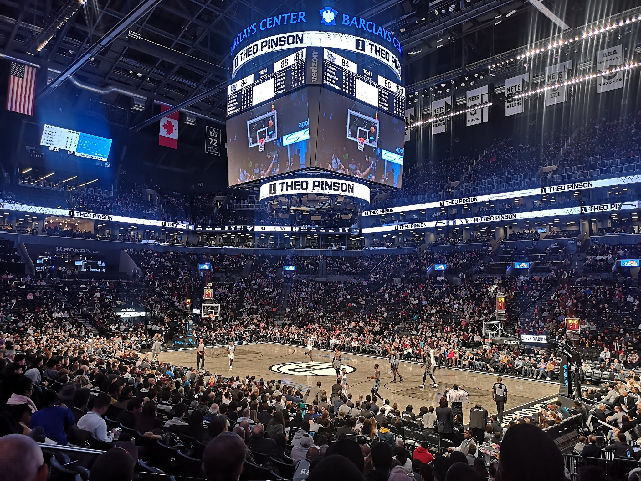 Brooklyn Nets basketball game, Barclays Center