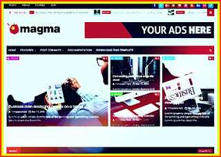 Magma News Responsive Blogger Template