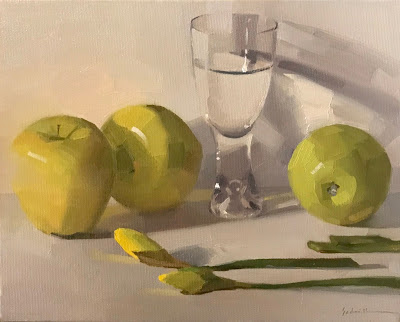 """Thirsty"" 8 x 10 inches, oil painting on canvas by Sarah Sedwick"