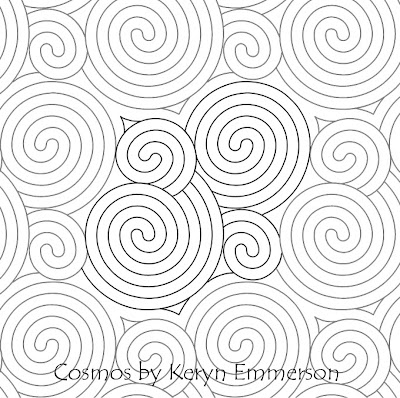 Cosmos Quilting Design by Keryn Emmerson