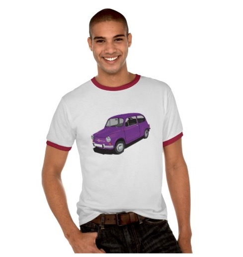 Fiat 600 automobile t-shirts