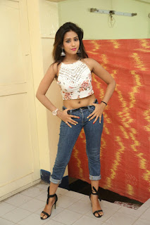 Deekshita Parvathi in a short crop top and Denim Jeans Spicy Pics Beautiful Actress Deekshita Parvathi January 2017 CelebxNext (67).JPG