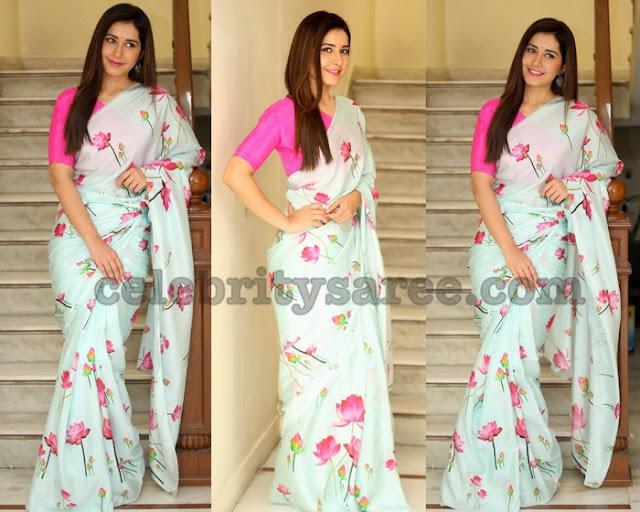 Raashi Khanna Floral Saree