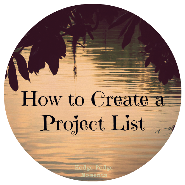 How to Create a Project List