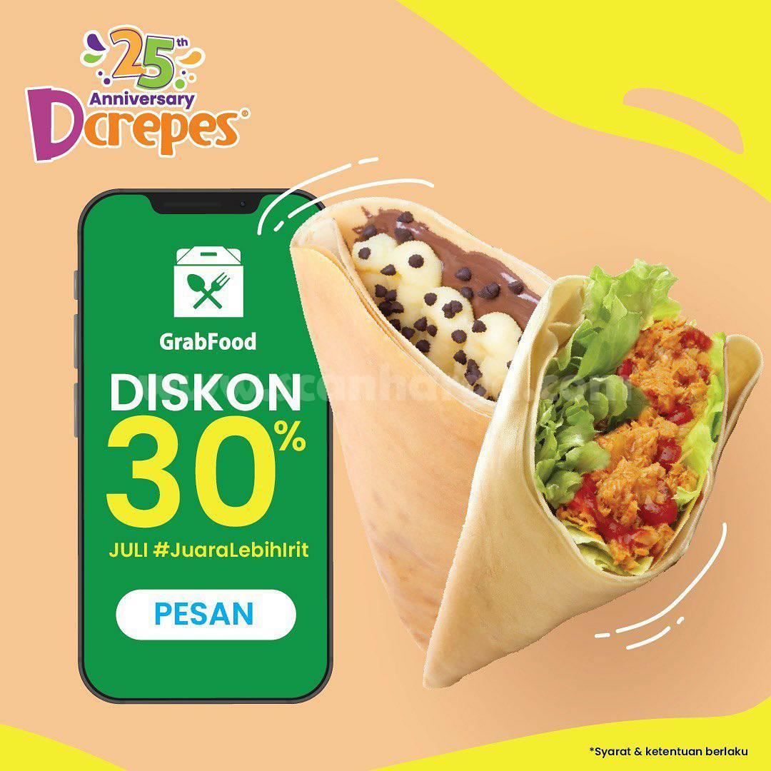 Dcrepes Promo Diskon 30% via Grabfood