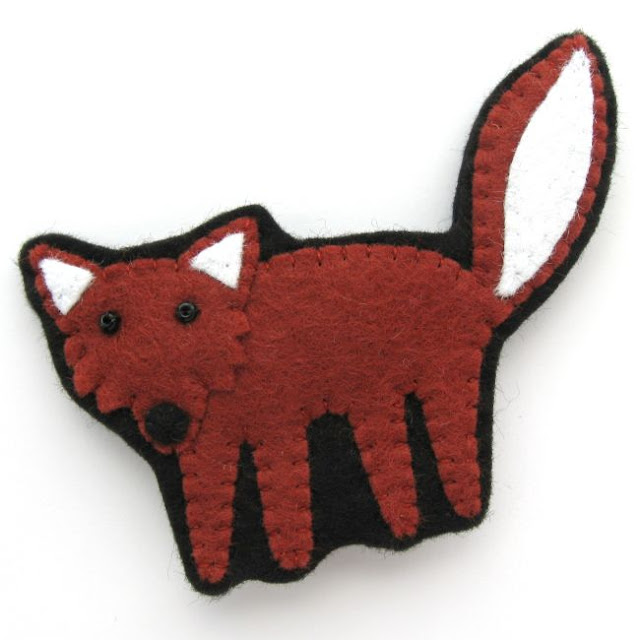 Felt Fox Brooch Cute Woodland Animal Sewing Tutorial