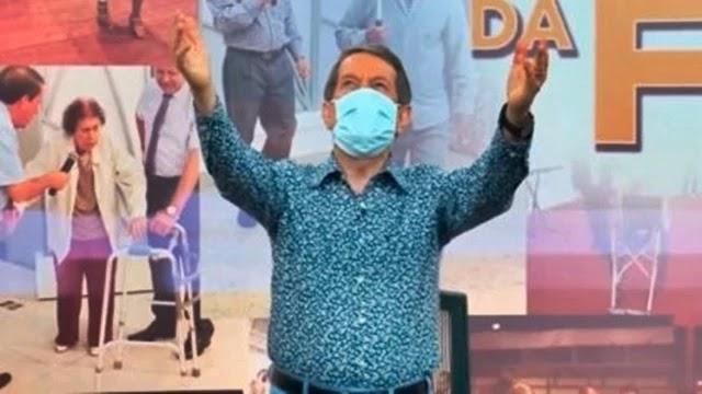 Pastor R.R. Soares afirma que 'água consagrada' por ele cura