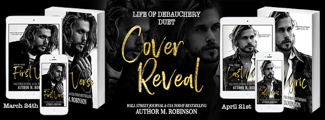 Cover Reveal ~ FROM THE FIRST VERSE & 'TIL THE LAST LYRIC  Life of Debauchery Duet By M. Robinson