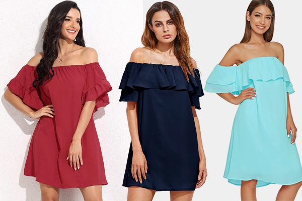 Women's Off Shoulder Dress